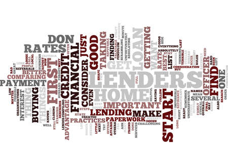FINANCIAL LENDERS Text Background Word Cloud Concept Illustration