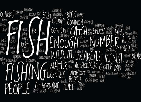 FISH WILDLIFE Text Background Word Cloud Concept