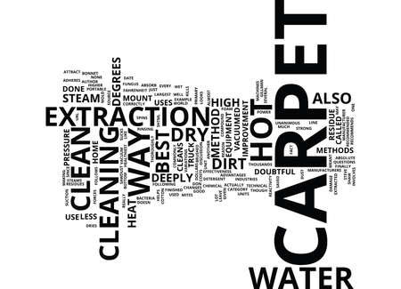 BEST WAY TO CLEAN CARPET Text Background Word Cloud Concept
