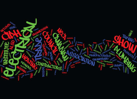 ELECTRICAL TRADE SHOW Text Background Word Cloud Concept