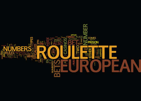 EUROPEAN Text Background Word Cloud Concept