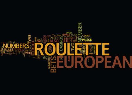EUROPEAN Text Background Word Cloud Concept