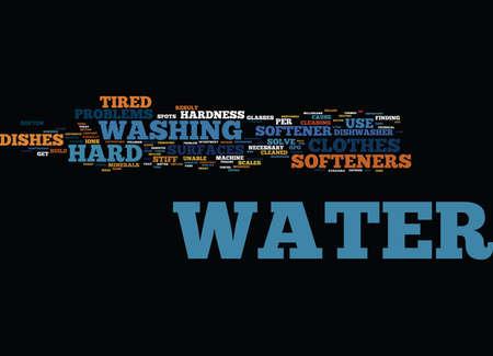 EINDE HARD WATER NACHTMERREN MET EEN WATERONTHOUDER Tekstachtergrond Word Cloud Concept