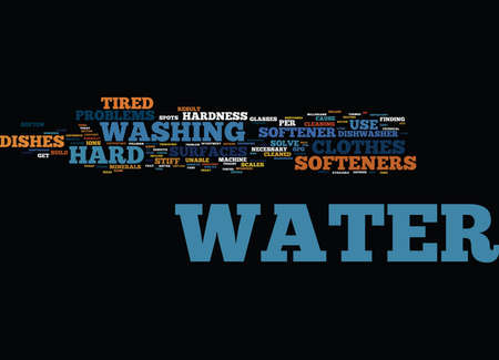 END YOUR HARD WATER NIGHTMARES WITH A WATER SOFTENER Text Background Word Cloud Concept