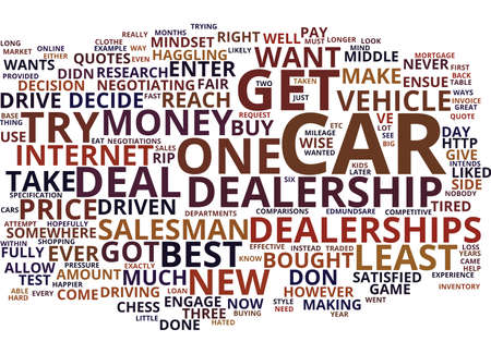 EFFECTIVE WAYS TO DEAL WITH CAR DEALERSHIPS Text Background Word Cloud Concept