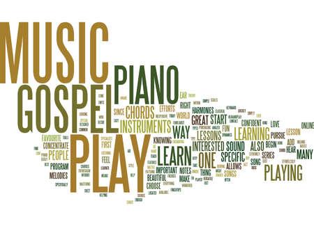疑問にどのようにプレイするゴスペル音楽テキスト背景単語クラウドの概念は  イラスト・ベクター素材