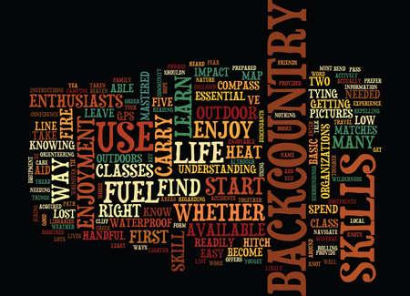 バックカントリーの楽しさ本文 5 ライフスキル背景単語雲の概念