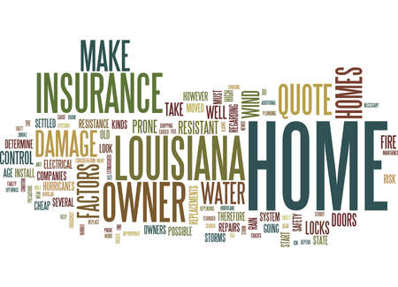 ルイジアナ州テキスト背景単語雲概念で格安のホーム所有者 S 保険引用を見つける  イラスト・ベクター素材