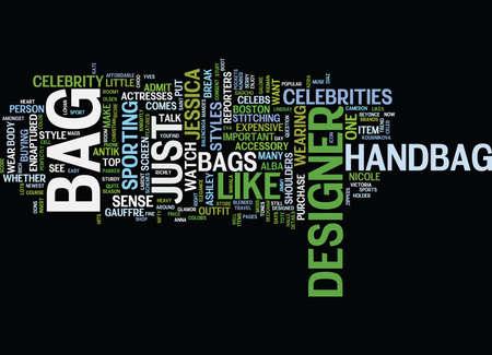 FINE SENSE OF DESIGNER BAGS Text Background Word Cloud Concept
