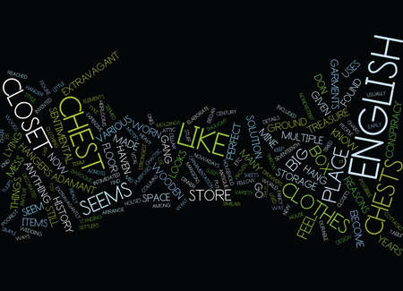 middle: ENGLISH CHEST HISTORY Text Background Word Cloud Concept