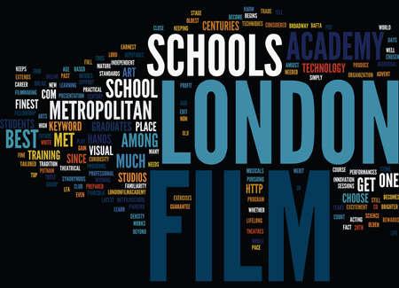 merit: FILM SCHOOL IN LONDON Text Background Word Cloud Concept Illustration