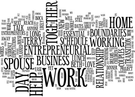 clarifying: ESSENTIAL BOUNDARIES FOR MOM ENTREPRENEURS AND THEIR HUSBANDS Text Background Word Cloud Concept
