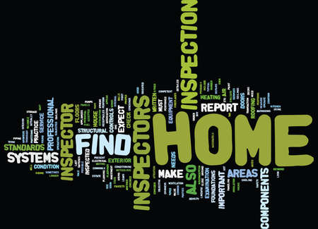 FIND HOME INSPECTOR Text Background Word Cloud Concept