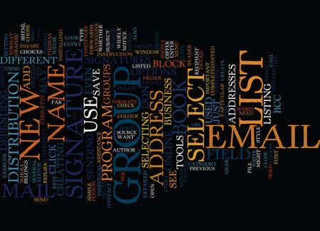 EMAIL ETIQUETTE Text Background Word Cloud Concept