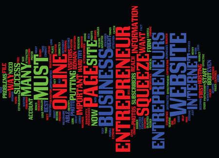 ENTREPRENEUR Text Background Word Cloud Concept