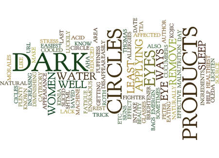 cicles: EFFECTIVE WAYS TO REMOVE DARK CICLES UNDER EYES Text Background Word Cloud Concept