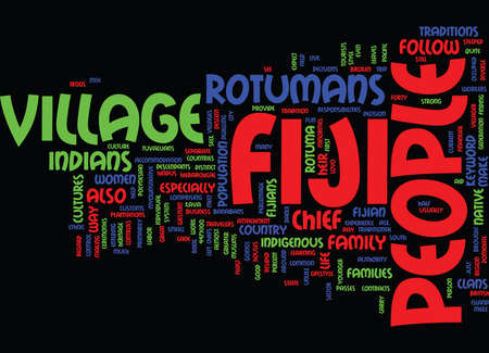 FIJI PEOPLE Text Background Word Cloud Concept