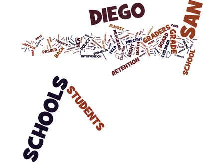 ACHT FABRIKANTEN DIE ONTBREKEN ZULLEN WORDEN TERUG IN DE SAN DIEGO SCHOLEN Tekst Achtergrond Word Cloud Concept