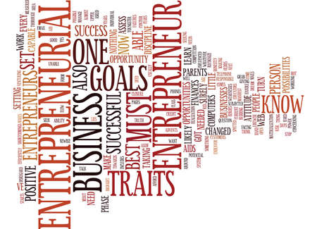 ENTREPRENEURIAL Text Background Word Cloud Concept