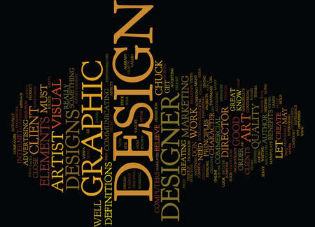 ELEMENTS OF A GOOD DESIGN Text Background Word Cloud Concept