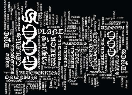 EGGS TRAVAGANT EGGS Text Background Word Cloud Concept