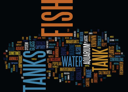 FISH TANKS Text Background Word Cloud Concept