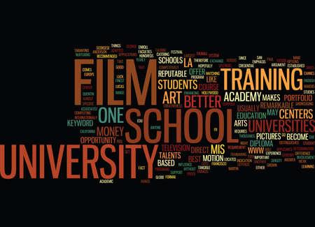 FILM SCHOOL UNIVERSITY Text Background Word Cloud Concept Reklamní fotografie - 82607245