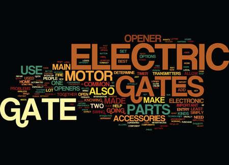 ELEKTRISCHE GATEN WAT WORDEN GEMAAKT VAN Tekst Achtergrond Word Cloud Concept Stock Illustratie