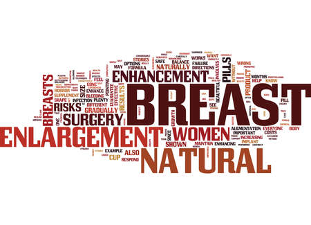 FINANCIAL FREEDOM OF BREAST ENHANCEMENT Text Background Word Cloud Concept