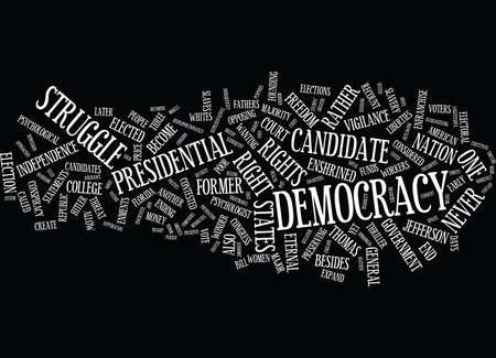 ETERNAL VIGILANCE ZUR SCHÜTZEN DEMOKRATIE WC Text Hintergrund Wort Cloud Concept