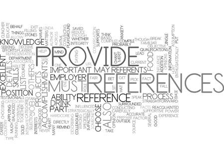 impacted: EXCELLENT REFERENCES CAN BE THE CLINCHER Text Background Word Cloud Concept