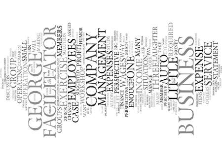 EMPLOYEES NEED SOME PERSPECTIVE Text Background Word Cloud Concept Ilustração