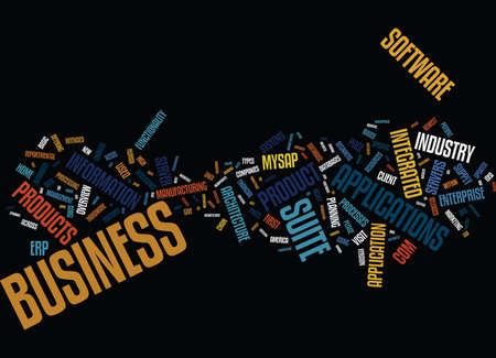 ERP PRODUCTS OVERVIEW Text Background Word Cloud Concept