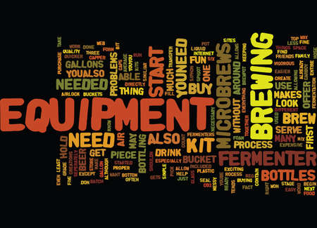 EQUIPMENT FOR MICROBREWS Text Background Word Cloud Concept