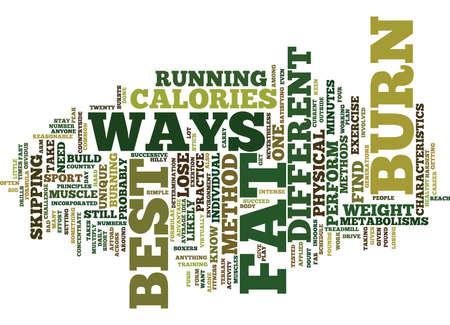 BEST WAYS TO BURN FAT Text Background Word Cloud Concept Illusztráció