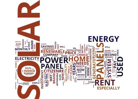 hassle: EVERYBODY CAN NOW GENERATE THEIR OWN SOLAR ENERGY Text Background Word Cloud Concept