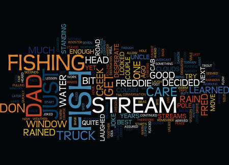 FISH JUST DON T CARE Text Background Word Cloud Concept Illusztráció