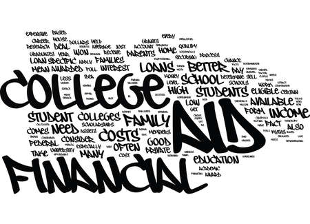 FINANCIAL AID MYTHS Text Background Word Cloud Concept Ilustrace