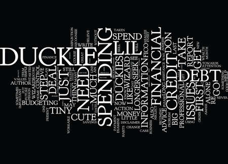 duckie: FINANCIAL WIZARDS PREPARE LIL TINY DUCKIES Text Background Word Cloud Concept