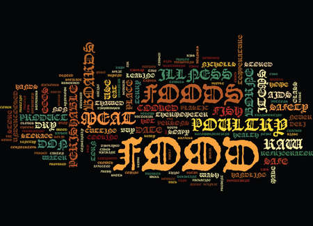 ESSENTIAL FOOD SAFETY TIPS FOR AIDS SUFFERERS Text Background Word Cloud Concept