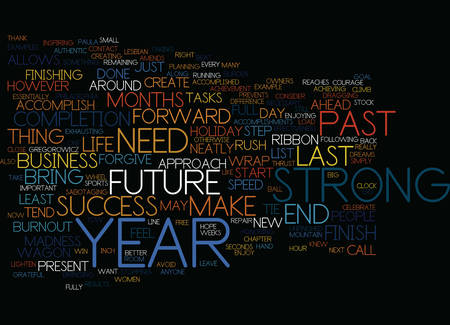 FINISH STRONG Text Background Word Cloud Concept Çizim