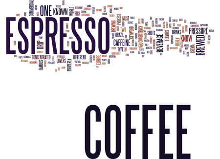 additional chemicals: ESPRESSO COFFEE Text Background Word Cloud Concept
