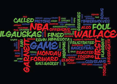FINE DAY FOR THE NBA Text Background Word Cloud Concept