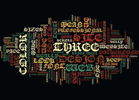 ELEMENTS OF GRAPHIC DESIGN FOR YOUR WEBSITE Text Background Word Cloud Concept