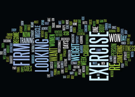 FIRM EXERCISE Text Background Word Cloud Concept