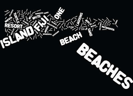 FIJI BEACHES Text Background Word Cloud Concept