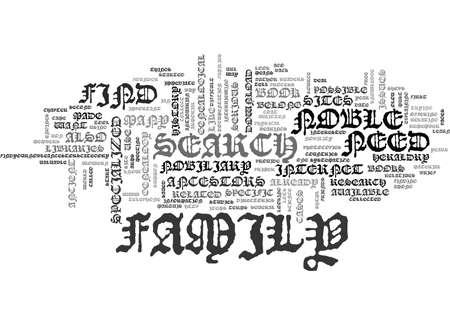 FIND YOUR NOBLE ANCESTORS Text Background Word Cloud Concept Ilustração