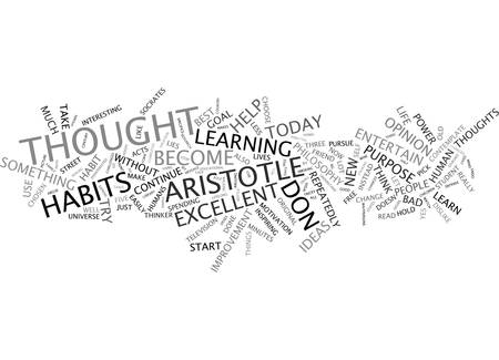 FIVE GREAT IDEAS FROM ARISTOTLE Text Background Word Cloud Concept Illustration