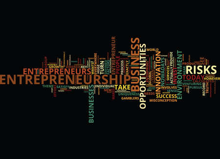 ENTREPRENEURSHIP AND THE BUSINESS ENVIRONMENT Text Background Word Cloud Concept