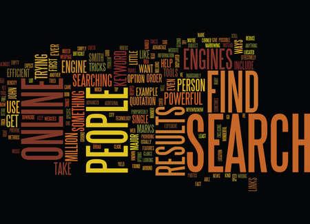 FIND PEOPLE ONLINE Text Background Word Cloud Concept Ilustração